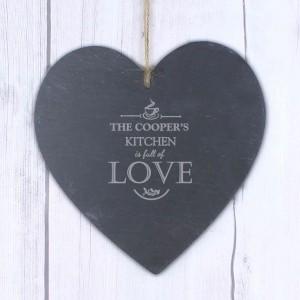 Full of Love Large Slate Heart Decoration