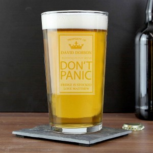 Dont Panic Pint Glass