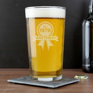 Established Rosette Pint Glass