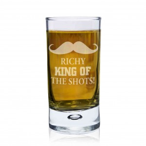 Moustache Bubble Shot Glass