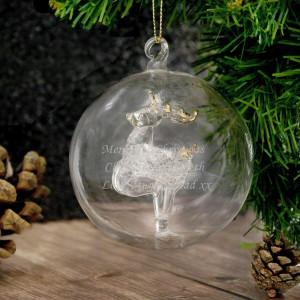 Glass Reindeer Bauble
