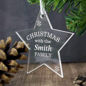 Acrylic Christmas Star Decoration