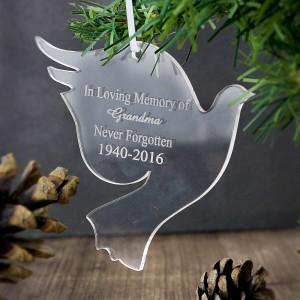 Acrylic Dove Decoration