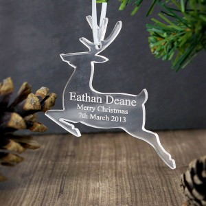 Acrylic Reindeer Decoration