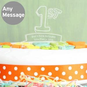 Acrylic 1st Birthday Cake Topper
