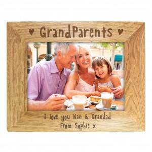 5x7 Grandparents Wooden Photo Frame
