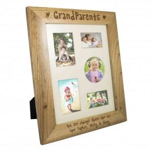 10x8 Grandparents Wooden Photo Frame