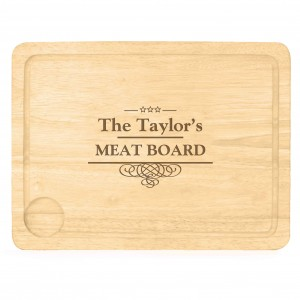 Decorative Swirl Meat Carving Board
