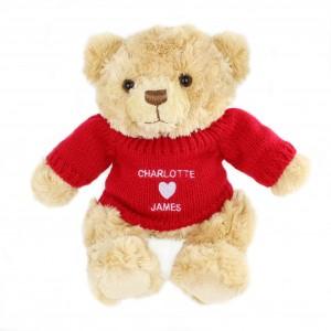 Love Heart Jumper Message Bear