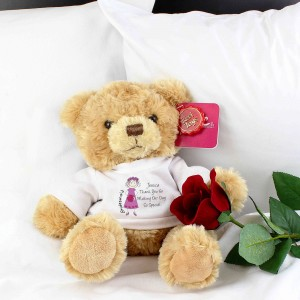 Cartoon Bridesmaid Message Bear