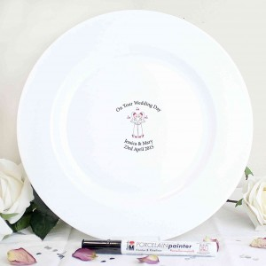 Female Civil Partnership Message Plate