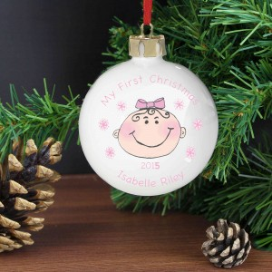Baby Girl My First Christmas Bauble