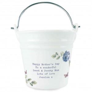 Secret Garden Porcelain Bucket - Any Message