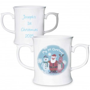 Snow Scene 1st Christmas Loving Mug