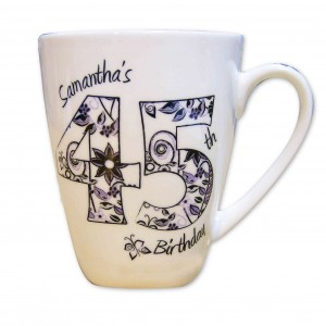 Numbers and Pattern Latte Mug