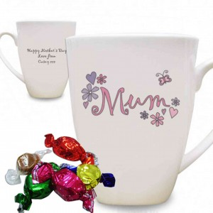 Flowers and Butterflies Latte Mug