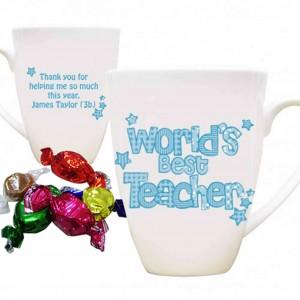 Blue World's Best Teacher Mug