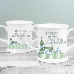 Whimsical Church 1st Holy Communion Loving Mug
