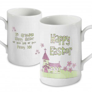 Whimsical Church Easter Mug