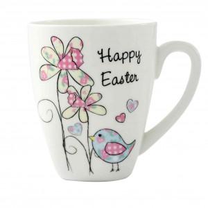 Easter Daffodil & Chick Latte Mug