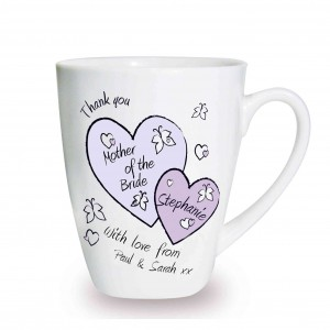 Butterfly Hearts Wedding Latte Mug