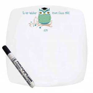 Mr Owl Message Plate