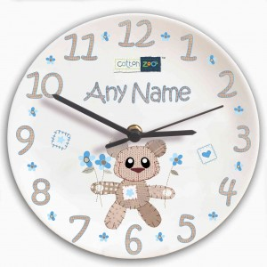 Cotton Zoo Tweed the Bear Boys Clock