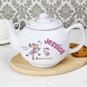 Bang on the Door Dainty Dish Teapot