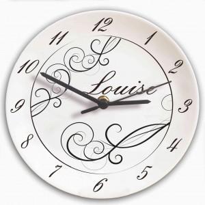 Black Swirl Clock