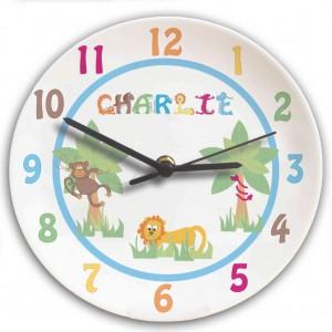 Animal Alphabet Boys Clock