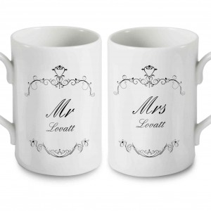 Ornate Swirl Mug Set
