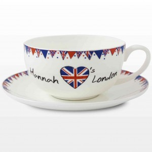 Union Jack Bunting Teacup & Saucer