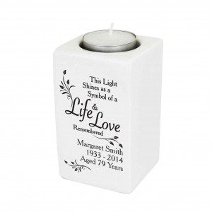 Loving Memory Ceramic Tea Light Candle Holder