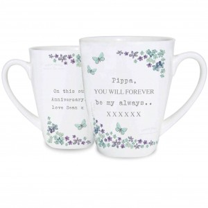 Forget me not Latte Mug