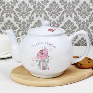 Vintage Pastel Cupcake Teapot