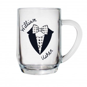 Dotty Wedding Male Tankard