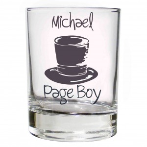 Wedding Top Hat Juice Glass