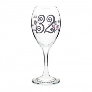 Fabulous Numbers Wine Glass