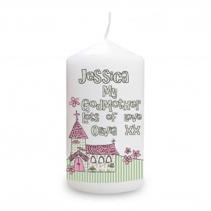 Whimsical Church Godmother Candle