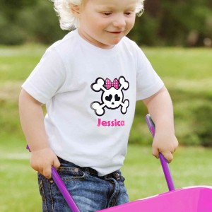Girls Skull & Cross Bone Tshirt 2-3 years