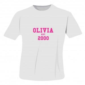 Established PinkText Tshirt 9-11 years