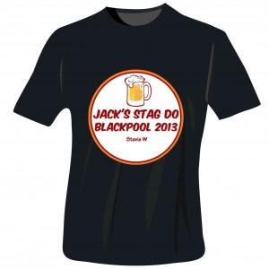 Beer Stag Do T-Shirt - Black - Large