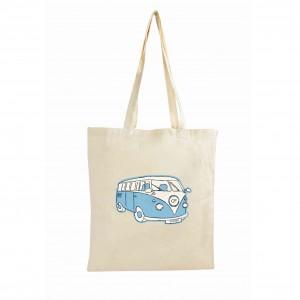 Blue Campervan Cotton Bag
