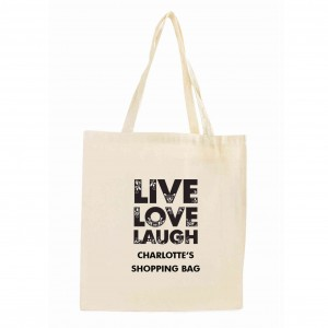 Live Laugh Love Cotton Tote Bag