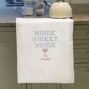 Home Sweet Home White Tea Towel