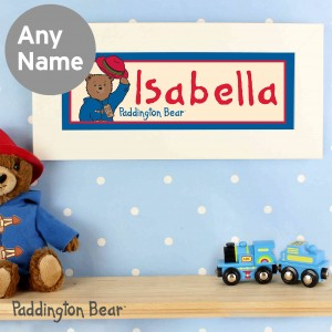 Paddington Bear Name Frame
