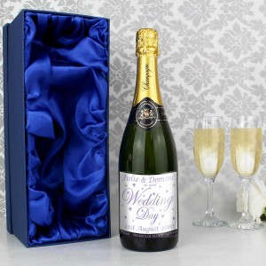 Wedding Day Champagne with Gift Box