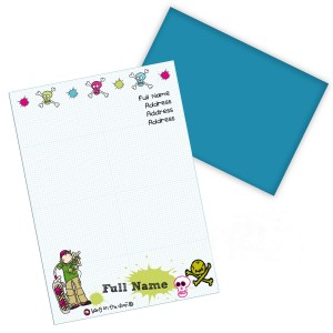Bang on the Door Skater Boy Stationery Set