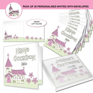 Pink Church Invitations