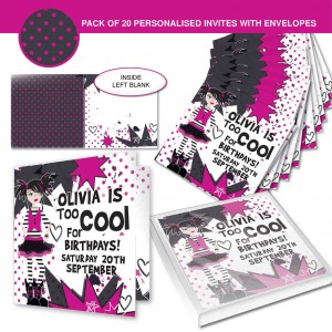 Too Cool Girl Invitations